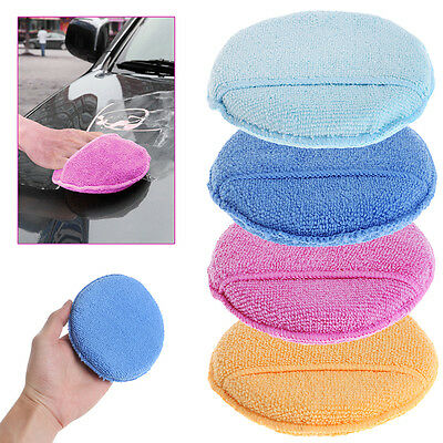 10 x Car Waxing Polish Microfiber Foam Sponge Applicator Cleaning Detailing Pads