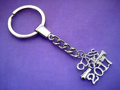 PICK YOUR CHARM Silver Class of 2017 Graduation Degree KeyChain Keyring Diploma