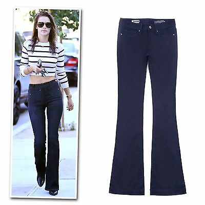 Gap navy blue blue high-rise flare bootcut pants