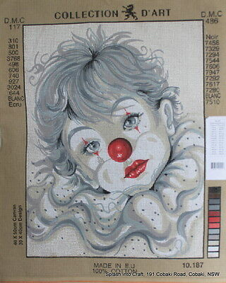 TAPESTRY CANVAS - COLLECTION d'ART - BOY CLOWN