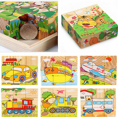 3D Wood Puzzle Educational Toys Wooden Baby Panda Jigsaw Puzzle Toy For Kids