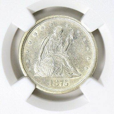 1875-S NGC Twenty Cent Piece AU Details Type Coin 140 Years Old Abt Uncirculated