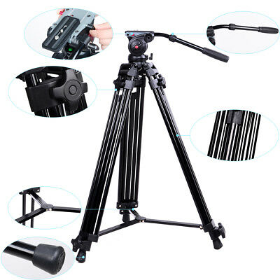 Professional Heavy Duty DV Video Camera Tripod For DSLR Canon Nikon Sony Camera