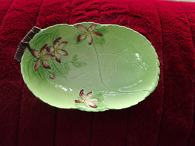 Vintage Carlton Ware Green Apple Blossom bowl  Fully Stamped