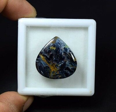 27.85 Cts. 100 % Natural Chatoyant Pietersite Pear Cabochon Untreated Loose Gems