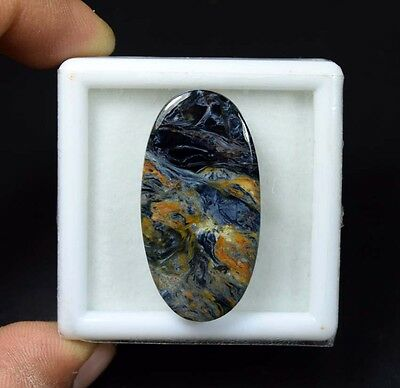 33.60 Cts. 100 % Natural Chatoyant Pietersite Oval Cabochon Untreated Loose Gems