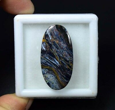 30.90 Cts. 100 % Natural Chatoyant Pietersite Oval Cabochon Untreated Loose Gems