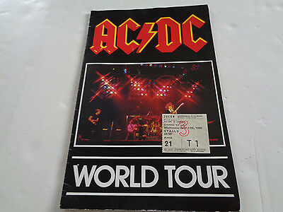 Ac/dc 1980 Concert Programme And A Concert Ticket Hammersmith Odeon Nov 1980