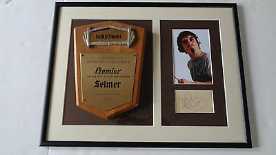 The Who Keith Moon Owned Premier Award And Autograph Display..a Great Item
