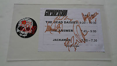The Dead Daisies Autograph / Signed Poster + Promotional Sticker Sheffield Uk
