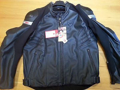 DUCATI DAINESE DARK ARMOUR MOTORCYCLE JACKET size 58 brand new