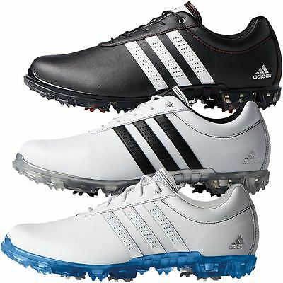 promo code 63529 8da9e adidas 2018 Adipure Flex Mens Spikes Waterproof Leather Golf Shoes-Wide  Fitting