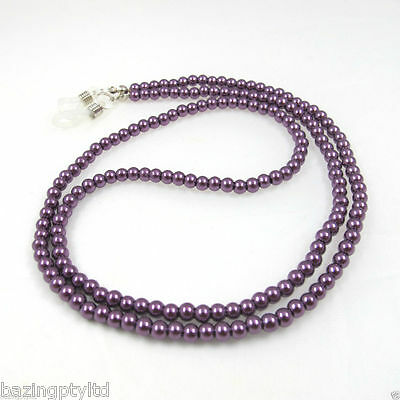 Purple Pearls Sunglasses Reading Glasses Spectacles Eyeglass Holder Chain Cord