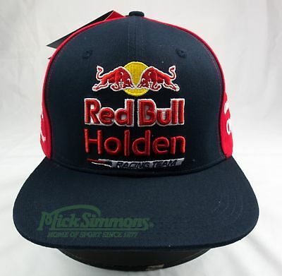 NEW Red Bull Holden Racing Team 2017 Flat Peak Cap - Adult's