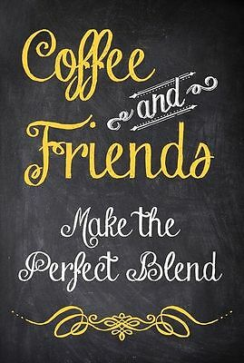 Coffee & Friends Quote Home decor wall cloth high quality Canvas print art gift