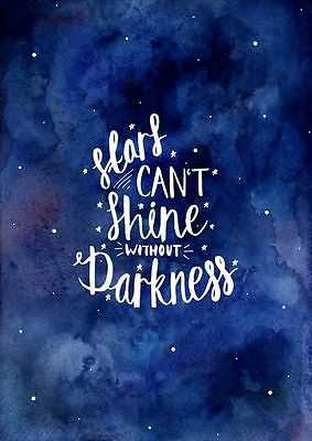 Stars can't shine Quote Home decor wall cloth high quality Canvas print art gift