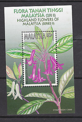 Malaysia 2000 - Stamps Week - SG MS959 - 1R Mini-sheet - Rhododedron.