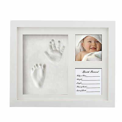 Precious Baby Handprint and Footprint Frame Package-Quality Wood Frame with Safe