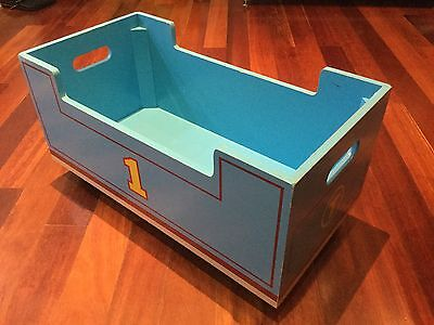 Thomas the Tank Engine Wooden Box with Wheels - Rare