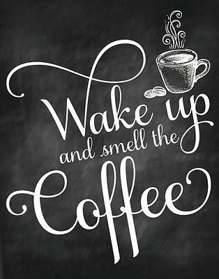 Coffee Quote Home decor wall cloth high quality Canvas print art gift