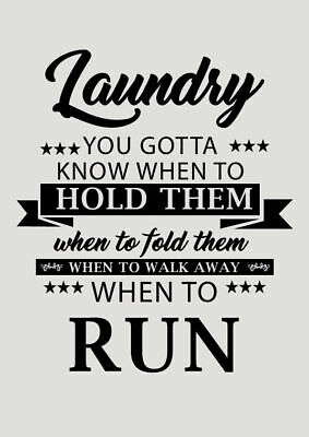 Laundry Quote Home decor wall cloth high quality Canvas print art gift