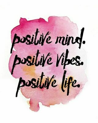 Positive mind Quote Home decor wall cloth high quality Canvas print art gift