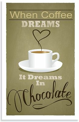 Coffee dreams Quote Home decor wall cloth high quality Canvas print art gift