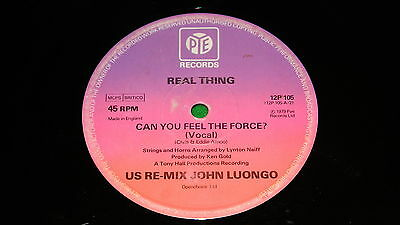 """REAL THING : Can You Feel The Force (US Remix) - Original 1979 12"""" single EX"""