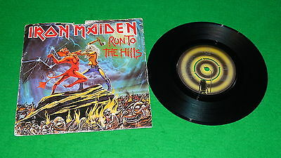 "IRON MAIDEN : Run to the hills - Original 1982 7"" single in picture sleeve VG/EX"