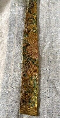 18 th century silk brocade  fragment.