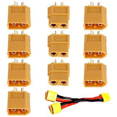 5 Pairs XT60 High Quality Male/Female Bullet Connectors Plugs For RC Battery #