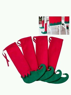 Avon Set of 4 Elf Christmas Table/Chair Leg Covers Brand New in pack Last one