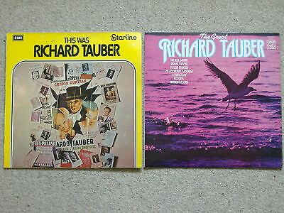 RICHARD TAUBER Two VINYL LP RECORDs - This Was [EMI Starline] & The Great [MFP]