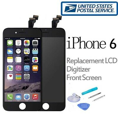 For iPhone 6 LCD Screen Replacement Touch Digitizer Front Glass Assembly Black