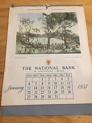 The National Bank of Australasia  Limited 1957 calendar