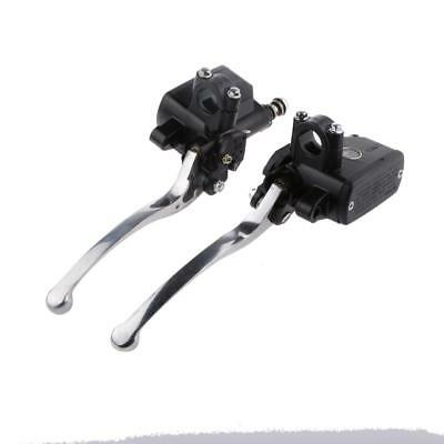 "Motorcycle Motorbike 7/8"" Left & Right Brake and Clutch Master Cylinder Set"