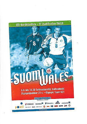 6/9/2003 euro under 21 qualifier Finland V Wales
