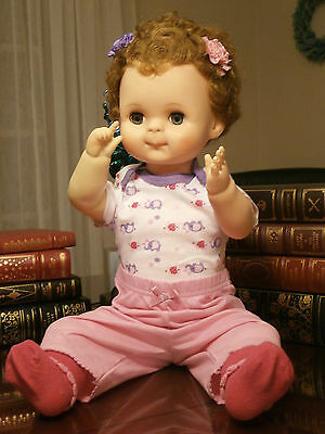 "Vintage 21"" Baby Doll 1962 Soft Vinyl Lifesize Baby Doll Wears Newborn Clothes"