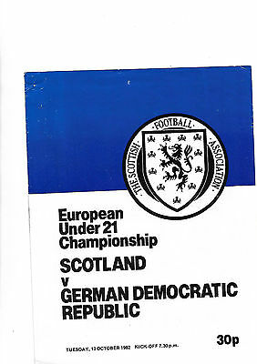 12/10/82 euro under 21 qualifier Scotland V East Germany at Hearts