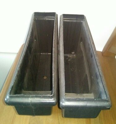 Pair of Bell fruit coin collection trays. Spares, parts. Inde blue