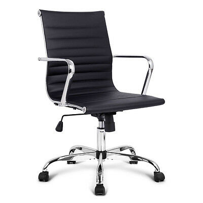 Eames Replica Black PU Leather Executive Computer Office Desk Chair