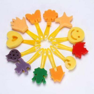 12Pcs Assorted Sponge Stamp Brush Seal Painter Kids Craft Drawing Tools Toys