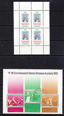 Australia 1978/1982 - Commonwealth Games and Stamp Week Miniature Sheets.