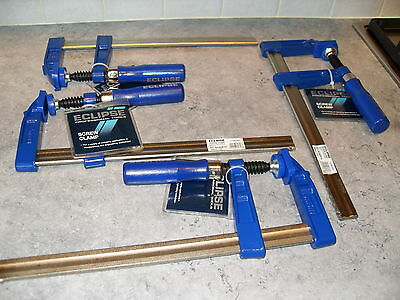 """4 Eclipse 10"""" Screw Clamps F.clamps"""
