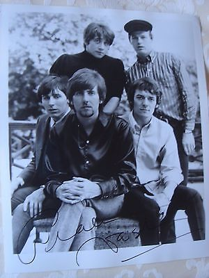 "HOLLIES vintage 10x8"" B&W photo boldly signed by GRAHAM NASH + COA"