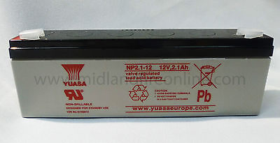 Yuasa Battery, Genuine, 12v / 2.1Ah Sealed Lead Acid Battery - NP2.1-12 FREE P&P