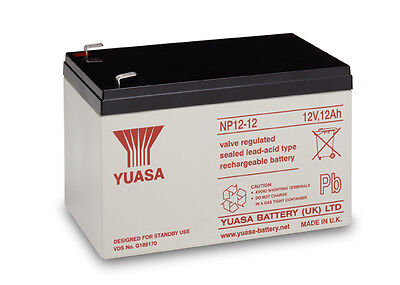 Yuasa Battery, Genuine, 12v / 12Ah Sealed Lead Acid Battery - NP12-12 FREE P&P