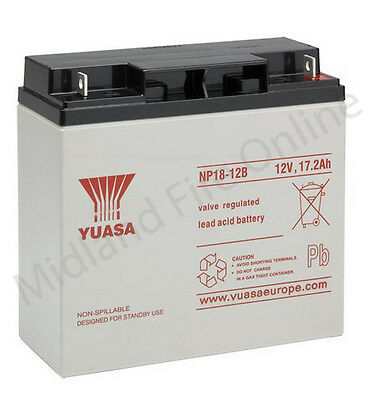 Yuasa Battery, Genuine, 12v / 18Ah Sealed Lead Acid Battery - NP18-12 FREE P&P