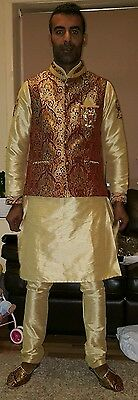 Men Indian, Pakistani sherwani.Waist coat jacket, shoe size 9 uk.