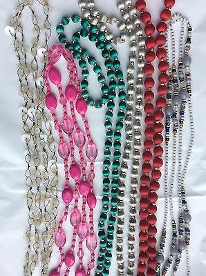 Job Lot Costume Jewellery Mix.6 Assorted Long Bead Necklaces.   431c